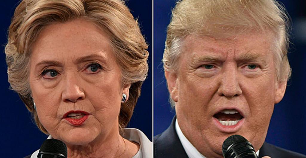 USA:n presidenttiehdokkaat: Hillary Clinton ja Donald Trump
