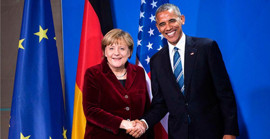 Angela Merkel ja Barack Obama