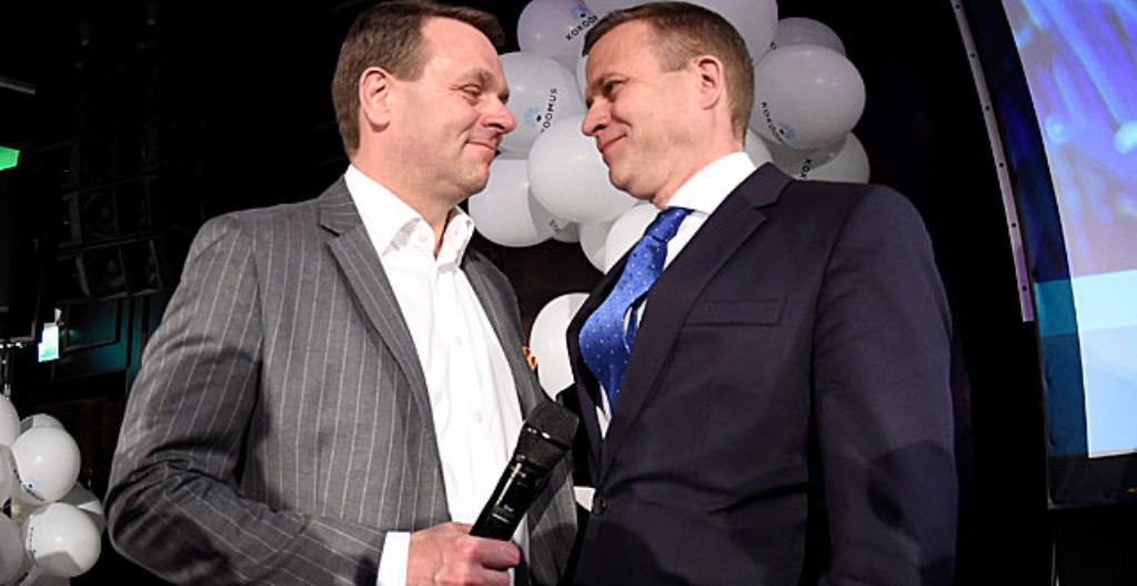 Vasemmalla Jan Vapaavuori ja oikealla Petteri Orpo