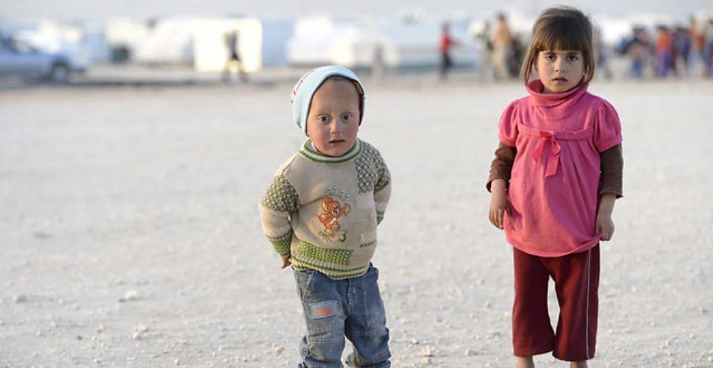 Syyriasta paenneita lapsia.