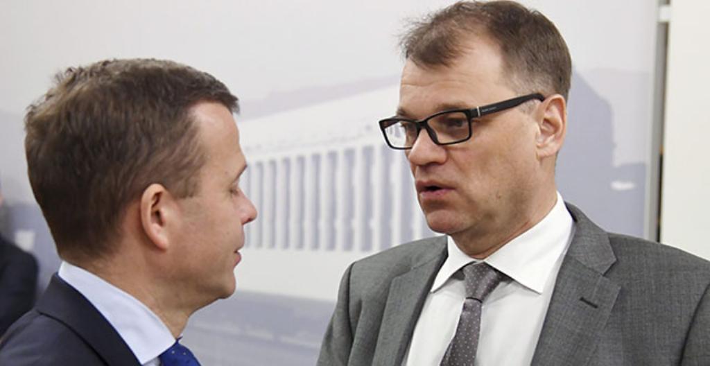 Ministerit Petteri Orpo ja Juha Sipilä.