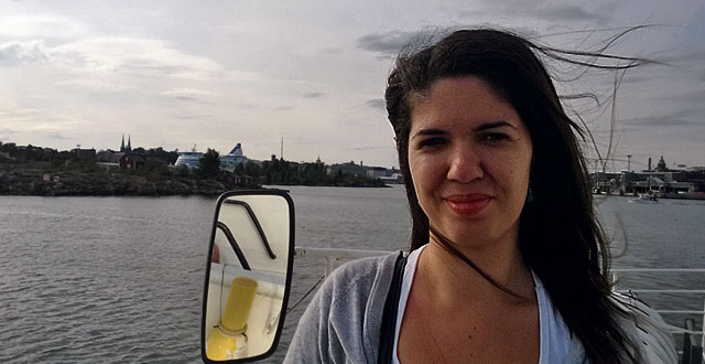 Kuvassa on Monica Vasku.