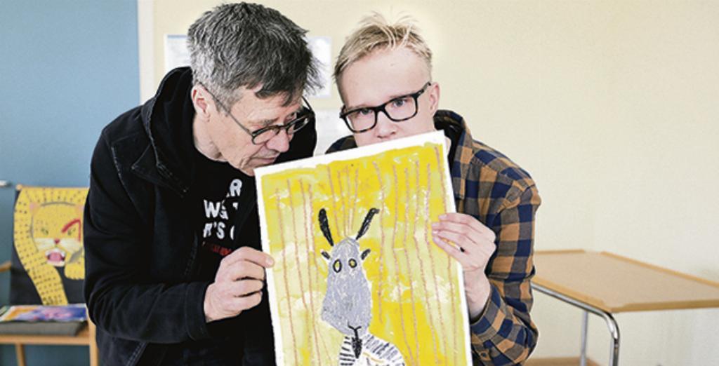 Pekka Elomaa ja Miika Turunen, sekä voittajatyö Vuohi.