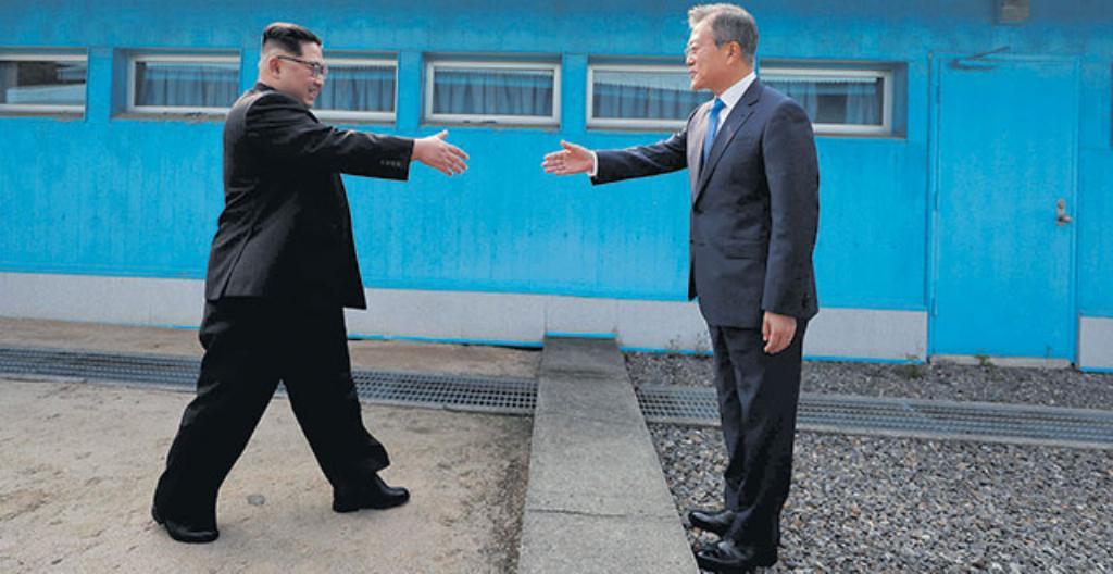 Kim Jong-un ja Moon Jae-in