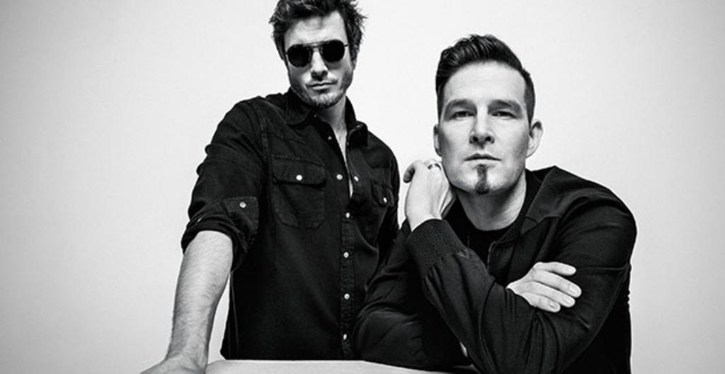 Darude (oikealla) ja laulaja Sebastian Rejman.