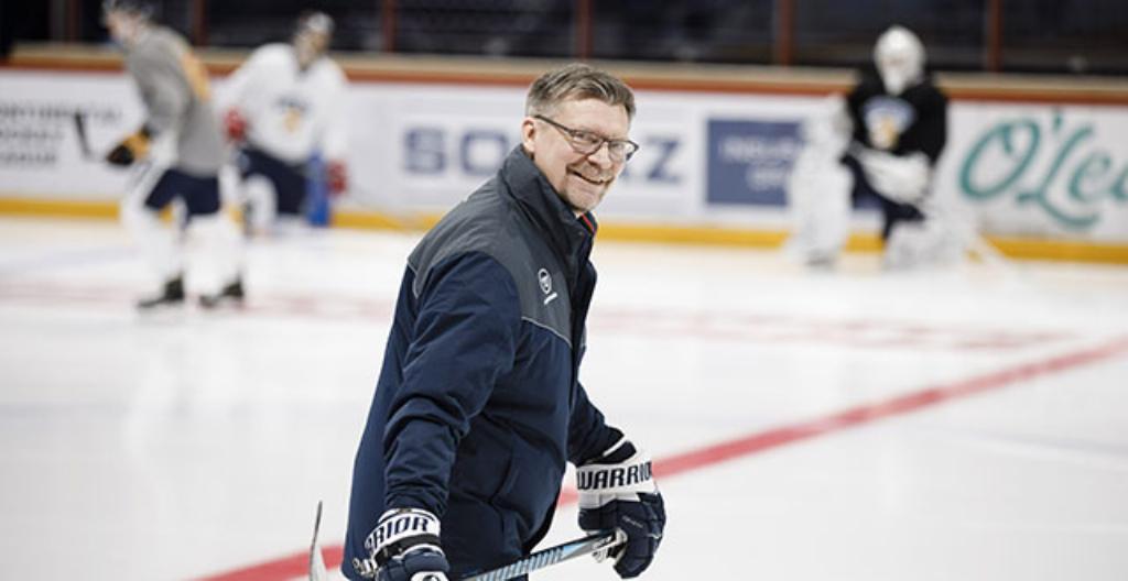 Suomen jääkiekkojoukkueen päävalmentaja Jukka Jalonen.