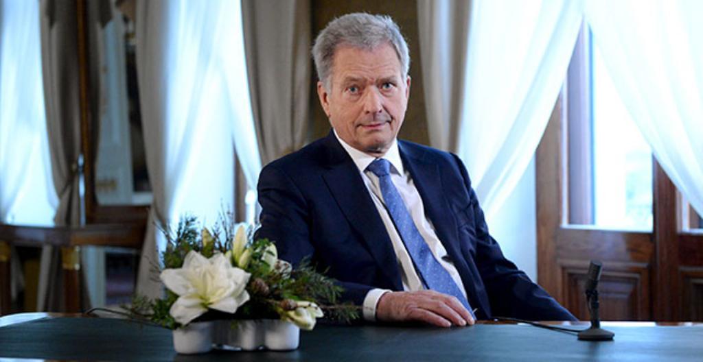 Presidentti Sauli Niinistö puhui suomalaisille uutena vuotena.
