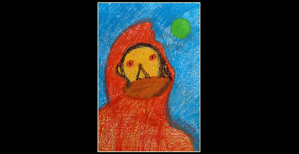 Henri Saloniuksen teos Maski voitti kuvataidekilpailun.